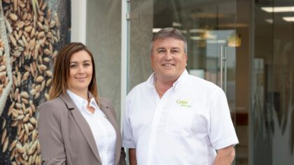 Managing director, Gemma Clarke and Trevor Cope, Cope Seeds & Grain