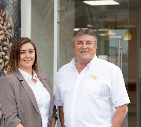 Managing director, Gemma Clarke and Trevor Cope, Cope Seeds & Grain
